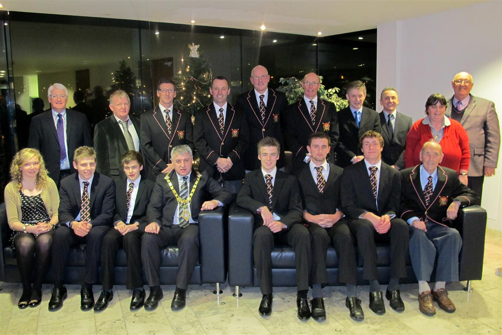 The Mayor and Coleraine council meet Bann's Irish Champions